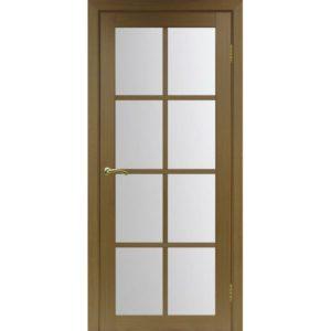 Межкомнатная дверь Optima Porte Турин 541.2222 (орех, остеклённая)