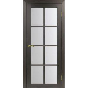 Межкомнатная дверь Optima Porte Турин 541.2222 (венге, остеклённая)
