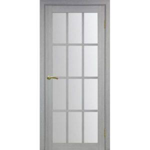 Межкомнатная дверь Optima Porte Турин 542.2222 (дуб серый, остеклённая)