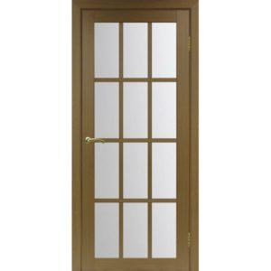 Межкомнатная дверь Optima Porte Турин 542.2222 (орех, остеклённая)