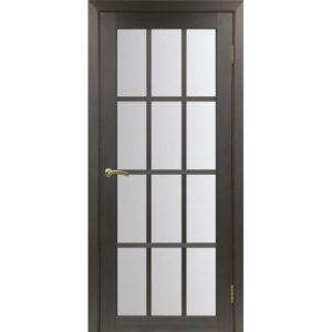 Межкомнатная дверь Optima Porte Турин 542.2222 (венге, остеклённая)