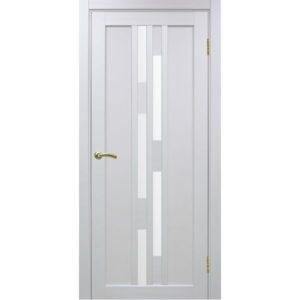 Межкомнатная дверь Optima Porte Турин 551.111 (белый монохром, остеклённая)
