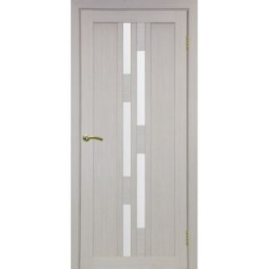 Межкомнатная дверь Optima Porte Турин 551.111 (дуб белёный, остеклённая)