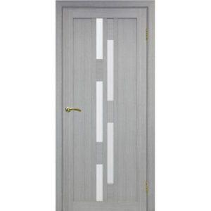 Межкомнатная дверь Optima Porte Турин 551.111 (дуб серый, остеклённая)