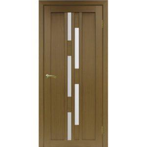 Межкомнатная дверь Optima Porte Турин 551.111 (орех, остеклённая)