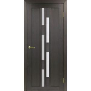 Межкомнатная дверь Optima Porte Турин 551.111 (венге, остеклённая)