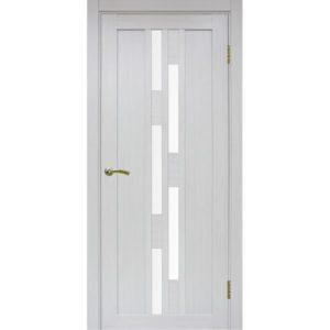 Межкомнатная дверь Optima Porte Турин 551.111 (ясень серебристый, остеклённая)