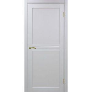 Межкомнатная дверь Optima Porte Турин 552 (белый монохром, остеклённая)