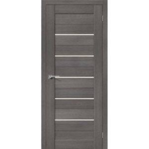 Межкомнатная дверь Порта-22 (3D Grey, остеклённая)