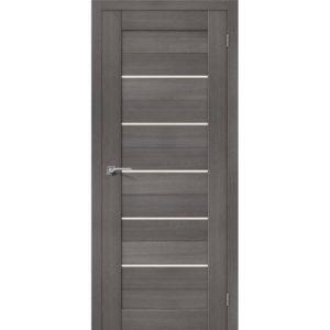 Межкомнатная дверь Порта-22 (Grey Veralinga, остеклённая)