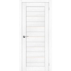 Межкомнатная дверь Порта-22 (Snow Veralinga, остеклённая)