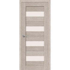 Межкомнатная дверь Порта-23 (3D Cappuccino, остеклённая)