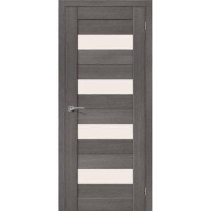 Межкомнатная дверь Порта-23 (3D Grey, остеклённая)