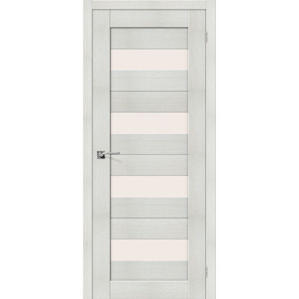 Межкомнатная дверь Порта-23 (Bianco Veralinga, остеклённая)