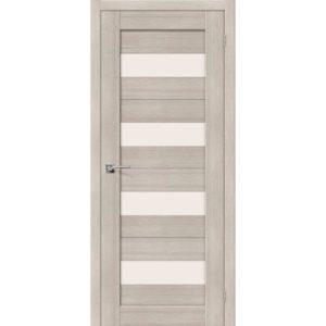 Межкомнатная дверь Порта-23 (Cappuccino Veralinga, остеклённая)