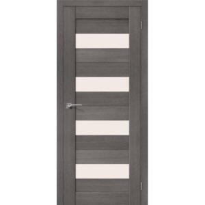 Межкомнатная дверь Порта-23 (Grey Veralinga, остеклённая)