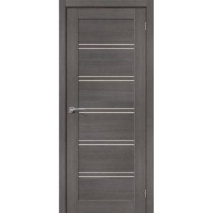 Межкомнатная дверь Порта-28 (Grey Veralinga, остеклённая)