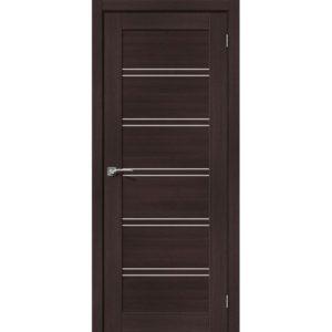 Межкомнатная дверь Порта-28 (Wenge Veralinga, остеклённая)