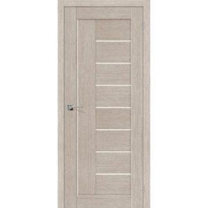 Межкомнатная дверь Порта-29 (3D Cappuccino, остеклённая)