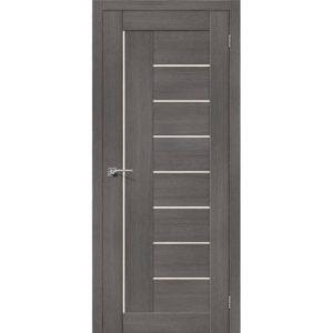 Межкомнатная дверь Порта-29 (3D Grey, остеклённая)