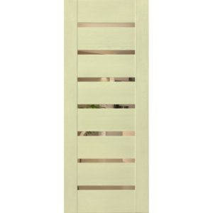 Межкомнатная дверь Schlager Mistral by Provence 2B (софт капучино, остеклённая)
