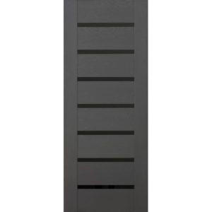 Межкомнатная дверь Schlager Mistral by Provence 2L (софт графит, остеклённая)