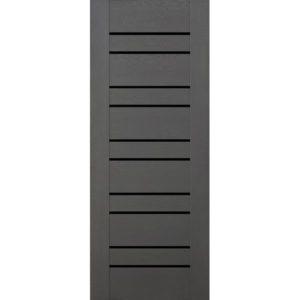Межкомнатная дверь Schlager Mistral by Provence 3L (софт графит, остеклённая)