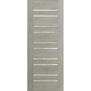 Межкомнатная дверь Schlager Mistral by Provence 3Z (дуб седой, остеклённая)