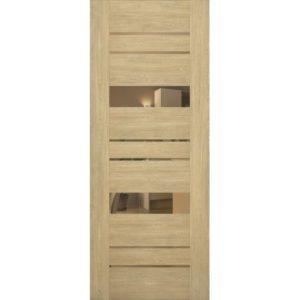 Межкомнатная дверь Schlager Mistral by Provence 4B (дуб натуральный, остеклённая)