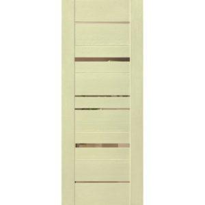 Межкомнатная дверь Schlager Mistral by Provence 5B (софт капучино, остеклённая)