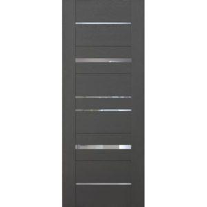 Межкомнатная дверь Schlager Mistral by Provence 5Z (софт графит, остеклённая)