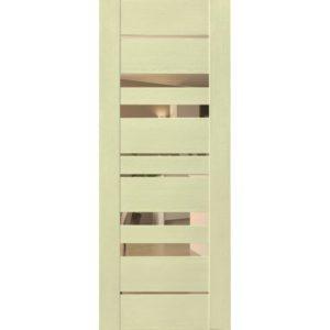 Межкомнатная дверь Schlager Mistral by Provence 6B (софт капучино, остеклённая)