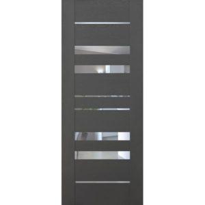 Межкомнатная дверь Schlager Mistral by Provence 6Z (софт графит, остеклённая)