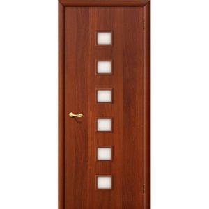 Ламинированная межкомнатная дверь Bravo 1С (Итальянский Орех, остеклённая, Сатинато)