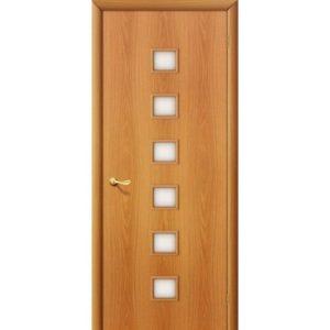 Ламинированная межкомнатная дверь Bravo 1С (Миланский Орех, остеклённая, Сатинато) (Копировать)