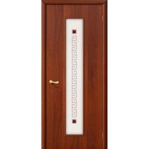 Ламинированная межкомнатная дверь Bravo 21Х (Итальянский Орех, остеклённая, Фьюзинг)