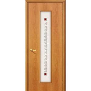 Ламинированная межкомнатная дверь Bravo 21Х (Миланский Орех, остеклённая, Фьюзинг)