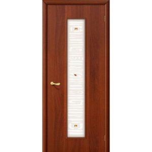 Ламинированная межкомнатная дверь Bravo 25Х (Итальянский Орех, остеклённая, Фьюзинг)