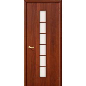 Ламинированная межкомнатная дверь Bravo 2С (Итальянский Орех, остеклённая, Сатинато)