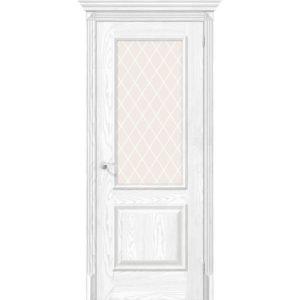 Межкомнатная дверь Классико-13 (Silver Ash, остеклённая)