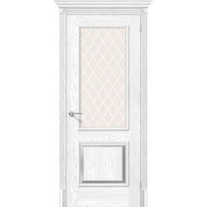 Межкомнатная дверь Классико-13 (Silver Ash/Silver Rift, остеклённая)