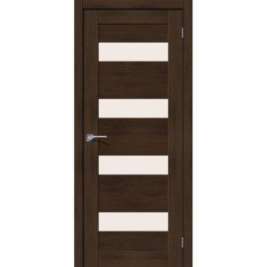 Межкомнатная дверь Легно-23 (Dark Oak, остеклённая)
