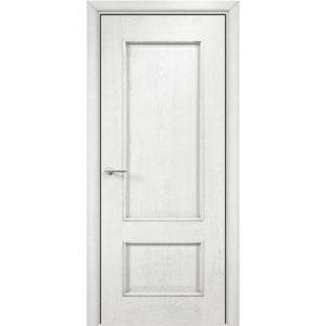 Межкомнатная дверь Оникс Марсель (эмаль белая патина серебро, глухая)