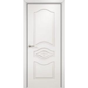 Межкомнатная дверь Оникс Сицилия (эмаль белая, глухая)