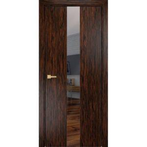 Межкомнатная дверь Оникс Соната (эбен, остеклённая)