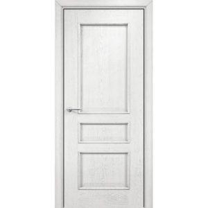 Межкомнатная дверь Оникс Версаль (эмаль белая патина серебро, глухая)