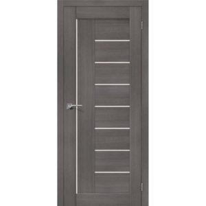 Межкомнатная дверь Порта-29 (Grey Veralinga, остеклённая)