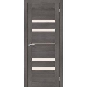 Межкомнатная дверь Порта-30 (Grey Veralinga, остеклённая)