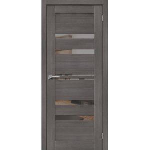 Межкомнатная дверь Порта-30 (Grey Veralinga, остеклённая, с зеркалом)