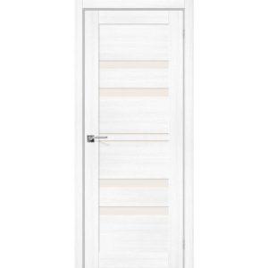 Межкомнатная дверь Порта-30 (Snow Veralinga, остеклённая)